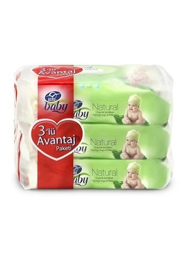 Uni Baby Uni Baby Natural Islak Bebek Havlusu 3'lü Renkli